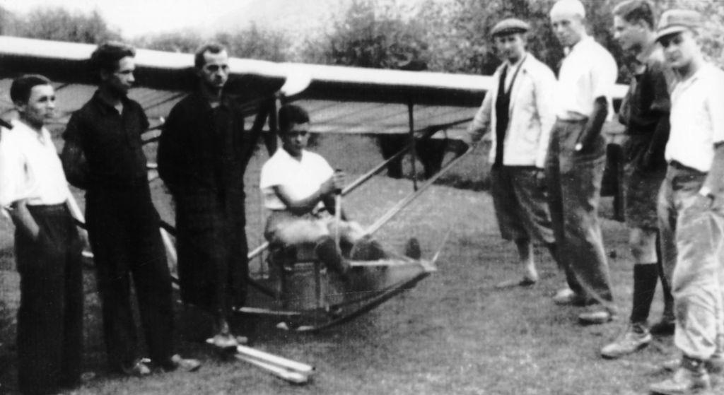 Kurs szybowcowy w Drozdowicach, sierpień 1938