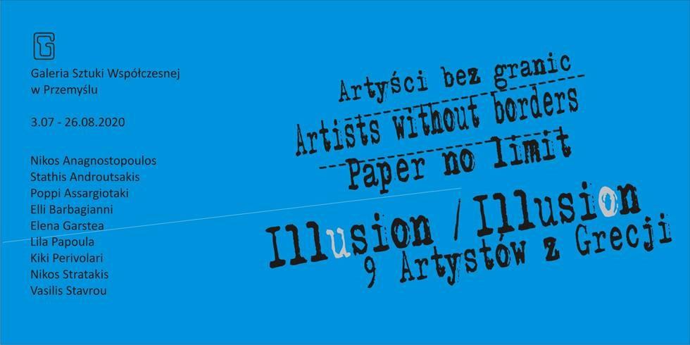Plakat wystawy Illusion / Illusion 9 Artystów z Grecji / 9 Artists From Greece