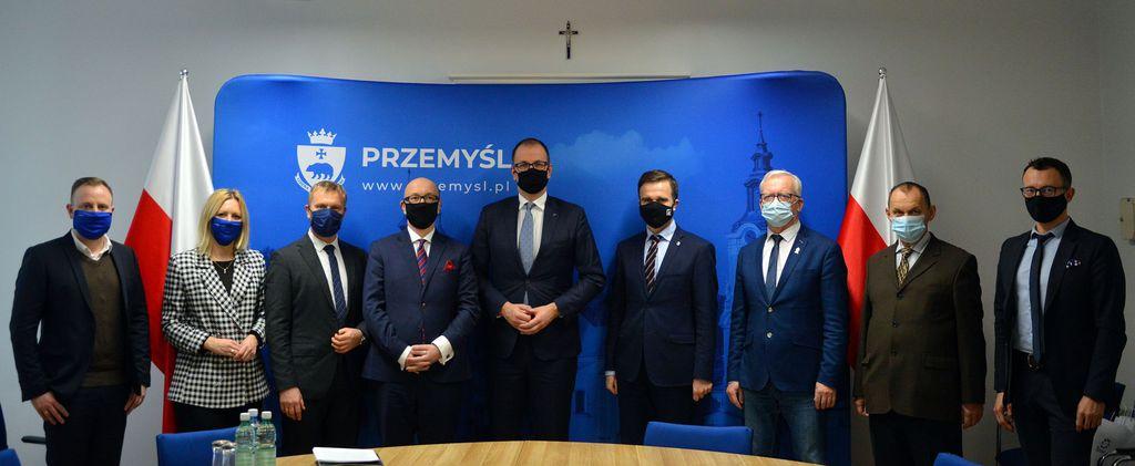 Spotkanie Prezesa spółki PGNiG TERMIKA Energetyka Przemyśl Krzysztofa Gigola z Prezydentem Miasta Przemyśla