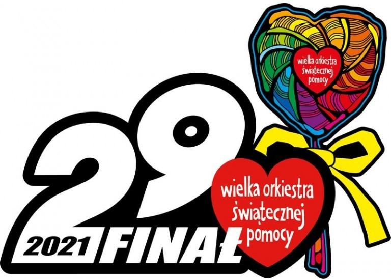Logo 29. Finału Wielkiej Orkiestry Świątecznej Pomocy - lizak