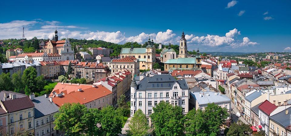 Panorama miasta z wieży zegarowej