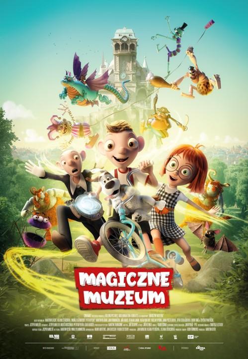 """Plakat filmu """"Magiczne Muzeum"""" z postaciami z bajki"""