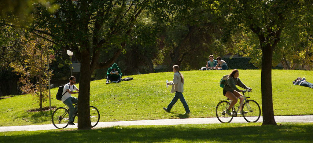 zdjęcie przedstawiające parki odpoczywających młodych ludzi
