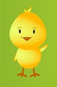 element ozdoby - rysunek kurczaka