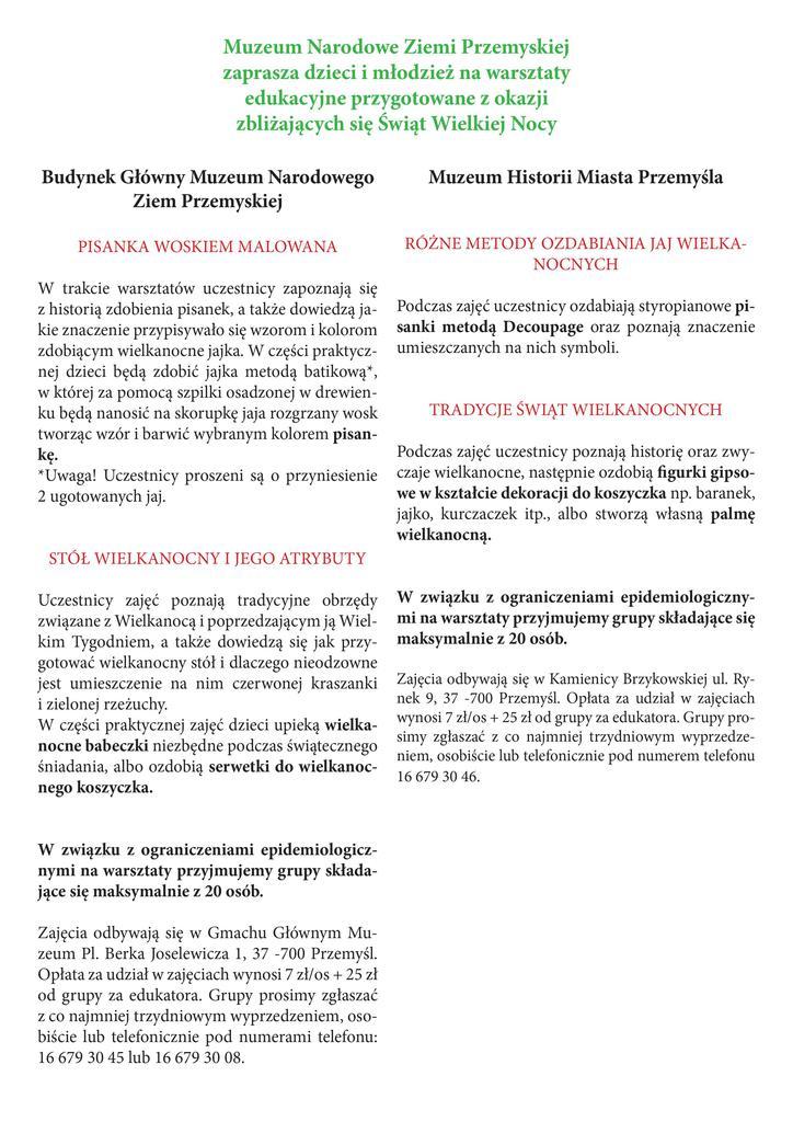 Tematy Warsztatów - tekst alternatywny w pliku poniżej