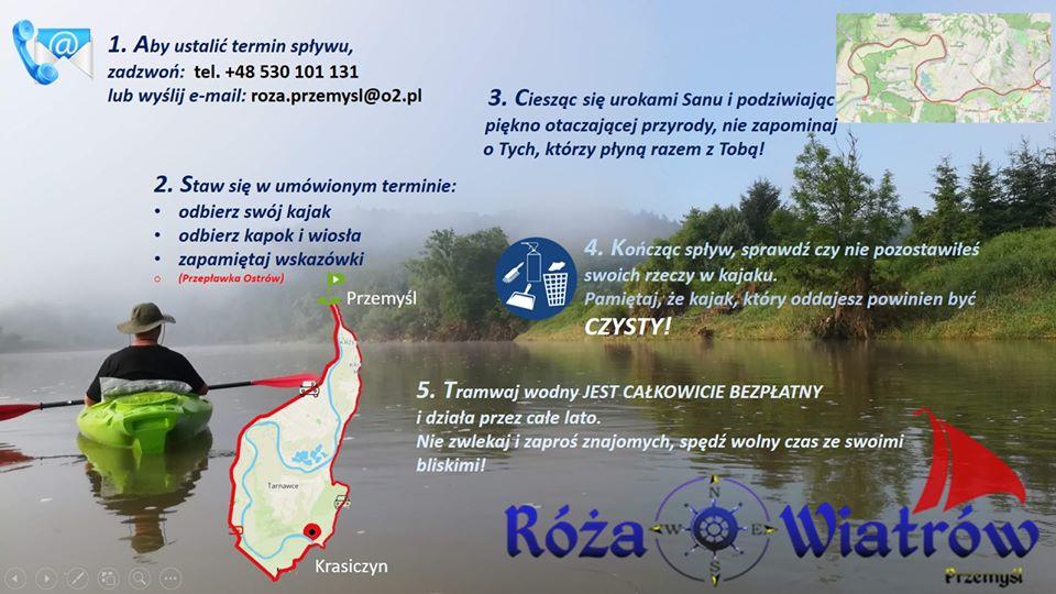 Zdjęcie z kajakarzem na rzece  Informacje tekstowe znajdują się w pliku poniżej zdjęcia