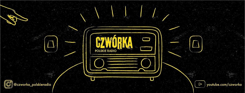 baner - odbiornik radiowy i tekst Czwórka Polskie Radio