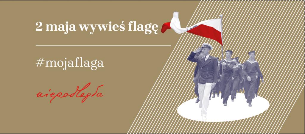 baner promujący akcję 2 maja wywieś flagę #mojaflaga