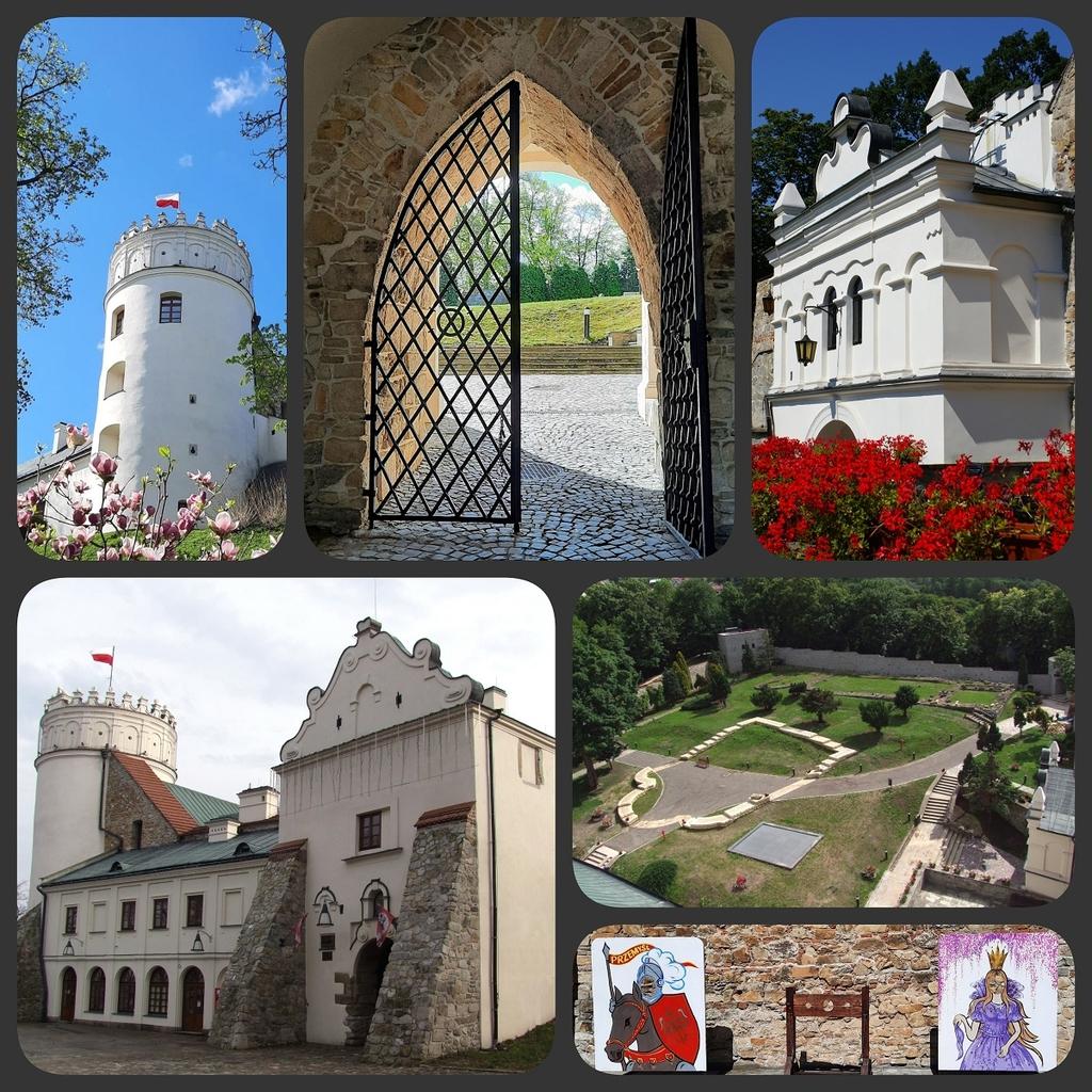 zdjęcia przedstawiające Zamek Kazimierzowski z różnych perspektyw