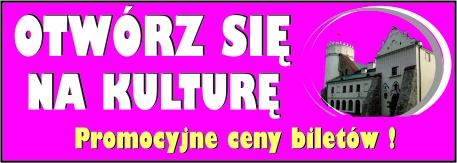 baner otwórz się na kulturę. Promocyjne ceny biletów