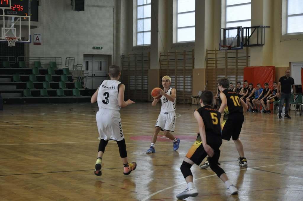 zdjęcie z meczu UKS Basket 15 Przemyśl – MKK Basket Gorzów Wielkopolski