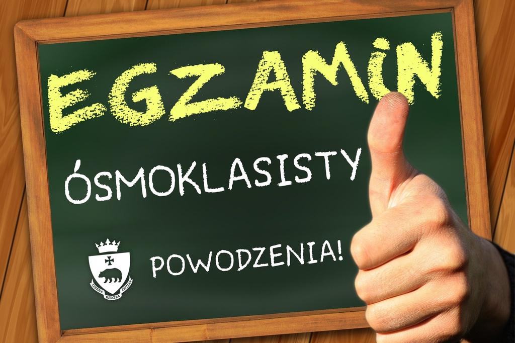 życzenia na egzamin ósmoklasisty - Powodzenia!