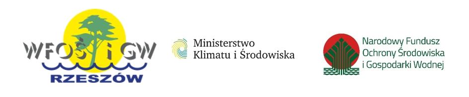 Loga Wojewódzkiego Funduszu Ochrony Środowiska i Gospodarki Wodnej w Rzeszowie, Ministerstwa Klimatu i Środowiska i Narodowego Funduszu Ochrony Środowiska i Gospodarki Wodnej