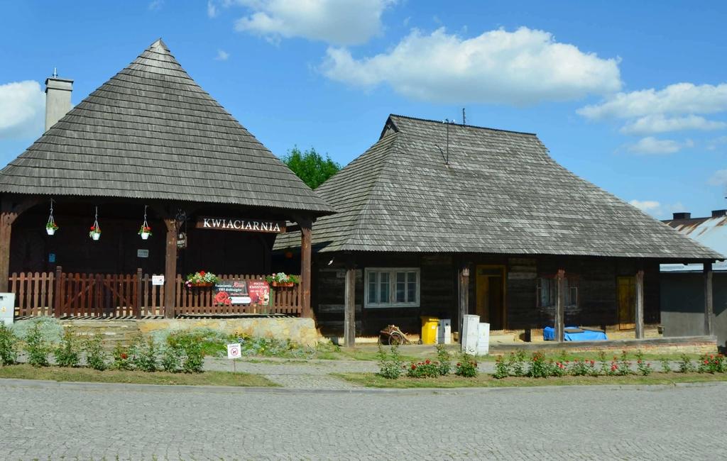 Drewniane budynki w Pruchniku