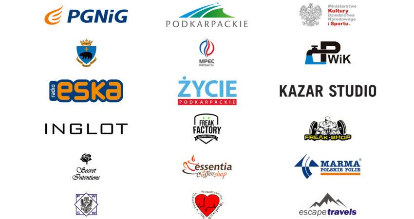 Loga sponsorów i partnerów biegu