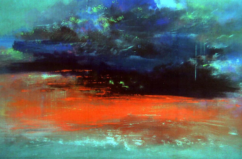 2 Pejzaż, 2004 − olej / olej / płyta (60 x 80 cm)