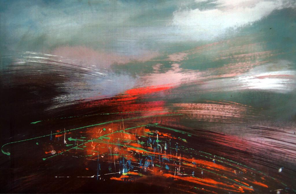 Pejzaż, 2002 − olej / płyta (60 x 80 cm)