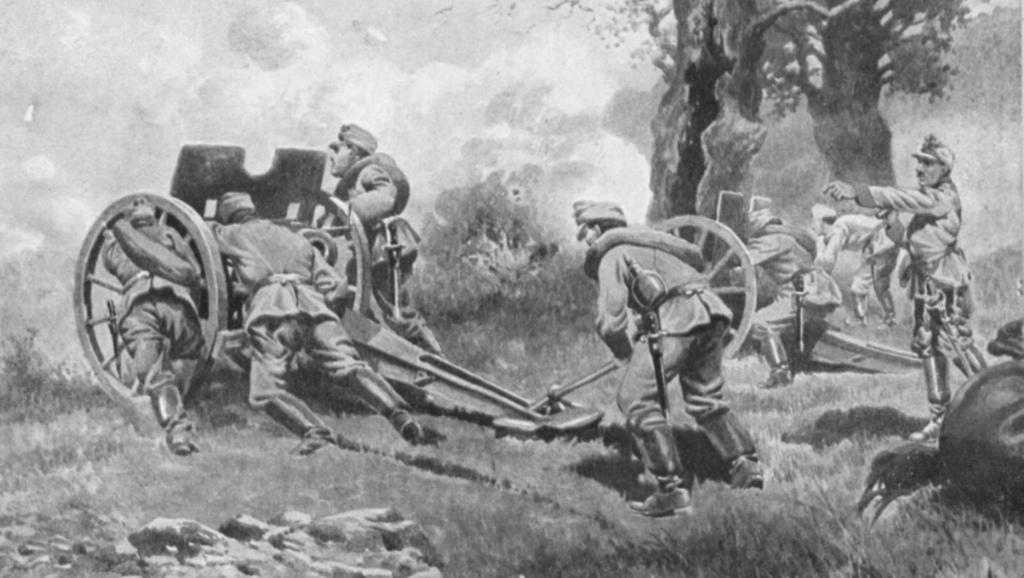 artyleria w boju -pocztówka z okresu walk o Twierdzę Przemyśl.jpeg