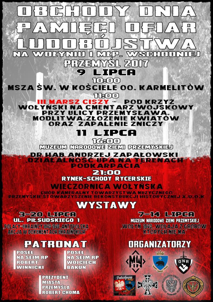 Plakat - Obchody Dnia 11 Lipca Pamięci Ofiar Rzezi Wołyńskiej, 2017.jpeg