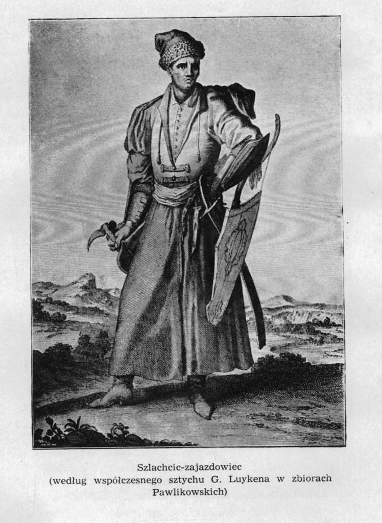 Szlachcic-zajazdowiec (według współczesnego sztychu G. Luykena w zbiorach Pawlikowskich)..jpeg