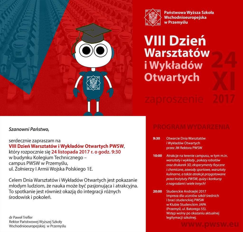 VIII Dzień Warsztatów i Wykładów Otwartych w PWSW - plakat.jpeg