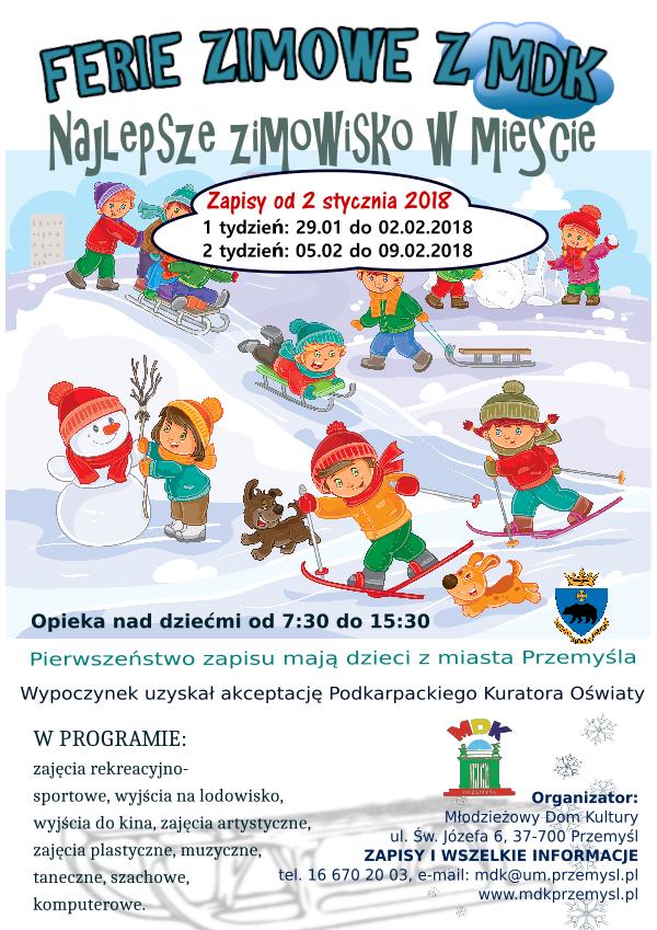 Ferie zimowe z MDK - plakat.png