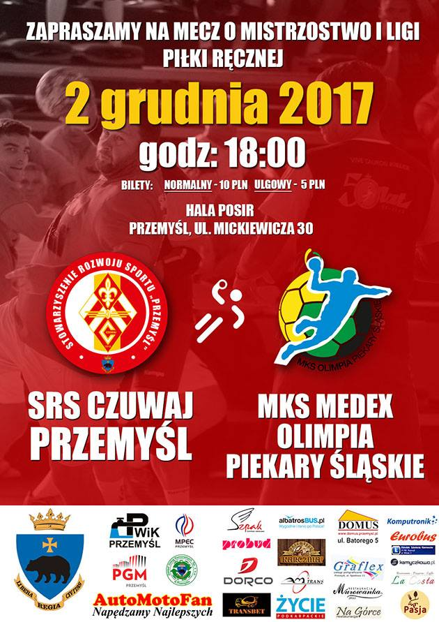 SRS Czuwaj vs. MKS Medex Olimpia Piekary Śląskie - plakat.jpeg