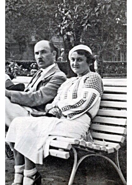 Janina Ziemiańska z Mościbrodzkich z mężem Bolesławem, Krynica 1937 r..jpeg