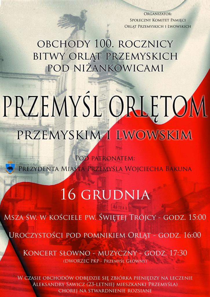 Plakat Obchodów 100. rocznicy bitwy Orląt Przemyskich pod Niżankowicami.jpeg