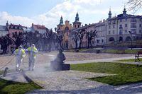 Galeria odkażanie centrum miasta - 1 kwietnia 2020
