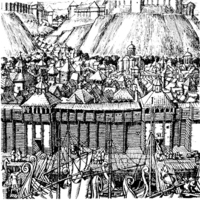 Kijów w wieku XI w., źródło: www.ukrmap.kiev.ua