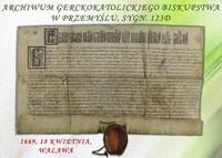 Galeria Najstarsze dokumenty Archiwum - 28 kwietnia 2020