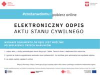 Galeria #ZostańWDomu i pobierz online elektroniczny odpis aktu stanu cywilnego