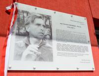 Galeria Przypieczętowano pamięć o Jarosławie Kłymińskim. Patron stadionu Juwenia ma swoją tablicę
