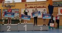 Aleksandra Makar na drugim stopniu podium turnieju