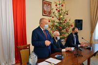 Prezydent Wojciech Bakun oraz Starosta Jana Pączek i Jan Piszak