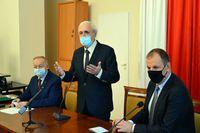 Przewodniczący Konwentu Jan Piszak i Prezydent Wojciech Bakun oraz Starosta Jan Pączek