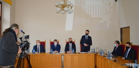 uczestnicy spotkania w Sądzie Rejonowym