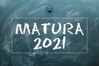 Tablica szkolna z napisem Matura 2021