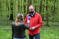 akcja sadzenia drzew w Parku na Lipowicy - wywiad Prezydenta