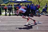 Zawodnik UKS Tempo 5 podczas biegu