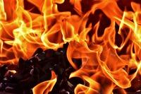 ogień w palenisku