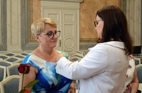 Odznaczenie - wicewojewoda Podkarpacki Jolanta Sawicka i Lucyna Sarosińska