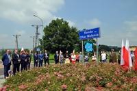 Uczestnicy uroczystości przy Rondzie Wołyńskim