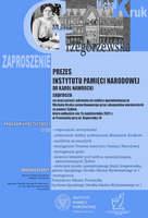 Plakat z programem wydarzenia, którego treść jest powtórzona w informacji, zdjęcie prof. Grzegorzewskiej