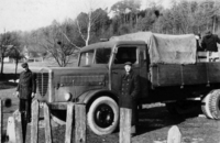 Ciężarówka, którą przewożono trumnę z Sieniawy do Przemyśla. Fot. archiwum