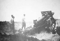 Haubica 155 mm z 10 pułku artylerii ciężkiej podczas ostrego strzelania..jpeg
