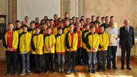 Galeria Fala sukcesów sportowych w Przemyślu. Tym razem triumfują szczypiorniści - podopieczni Piotra i Mateusza Kroczków.