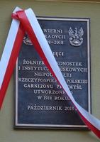 Galeria 100-lecie - odsłonięcie tablicy