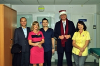 Galeria Święty Mikołaj w szpitalu